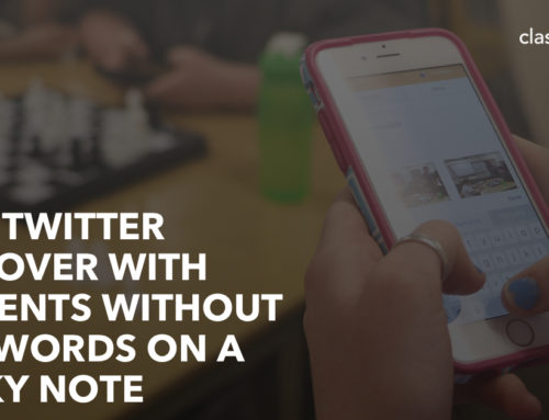 Do A Twitter Takeover With Students Without Passwords On A Sticky Note