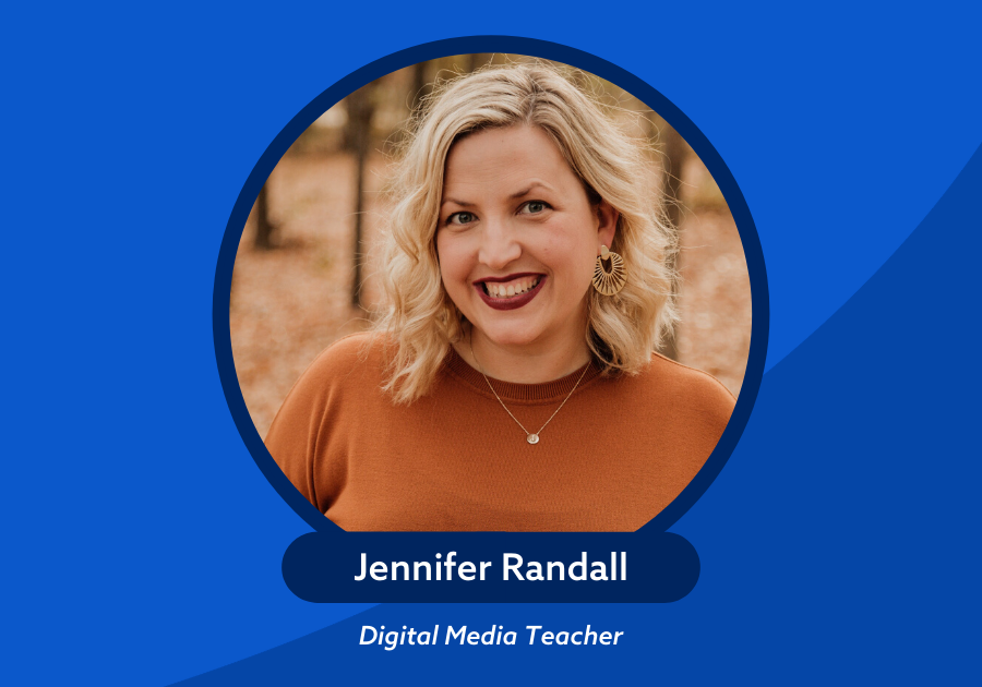 the content generation logo episode 31 jennifer randall carroll isd photo of Jennifer on the left side