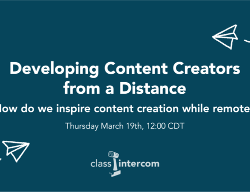 Developing Content Creators from a Distance