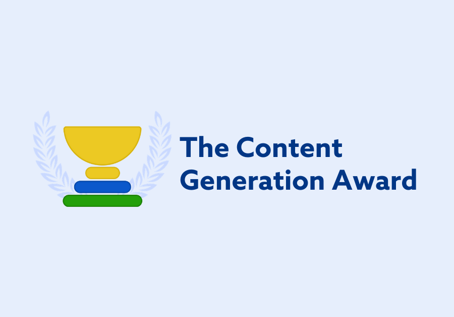 The Content Generation Award